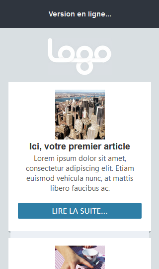 La version mail vue sur un mobile